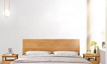 Giường ngủ gỗ sồi hiện đại, đóng giường gỗ tự nhiên giá rẻ