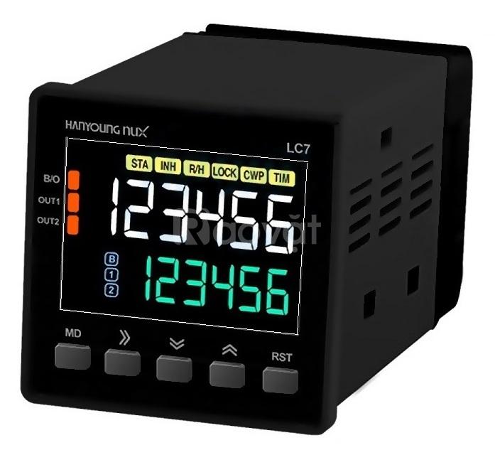 Bộ đếm bộ định thời Hanyoung Nux LC7-P62CA chuẩn truyền thông RS-485M