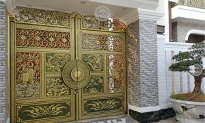 Cổng nhôm đúc Tứ Linh - Long Lân Quy Phụng