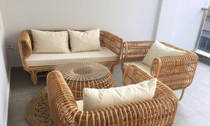 Bộ bàn ghế sofa mây, bàn ghế sofa mây tre