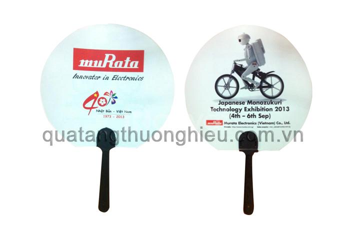 Quạt nhựa quảng cáo in ấn logo thương hiệu