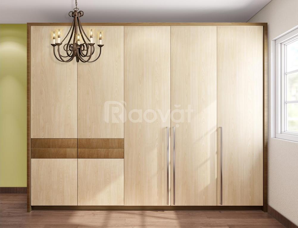 Tủ gỗ công nghiệp giá rẻ HCM đóng tủ quần áo hiện đại An Cường