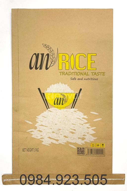 Bao bì giấy kraft đựng gạo