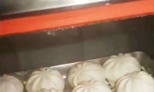 Tủ hấp bánh bao trưng bày, tủ làm nóng bánh bao mini