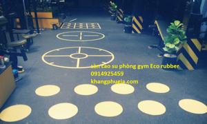 Thi công thảm sàn cao su phòng gym fitness giá rẻ