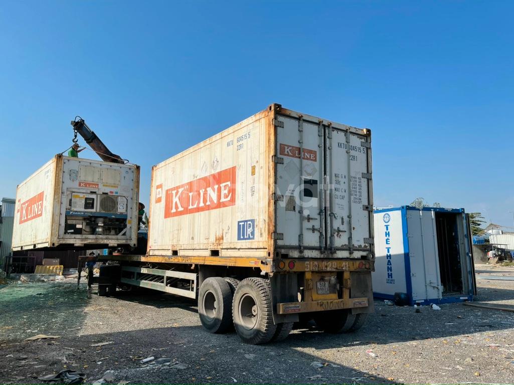 Container 20feet làm kho lạnh