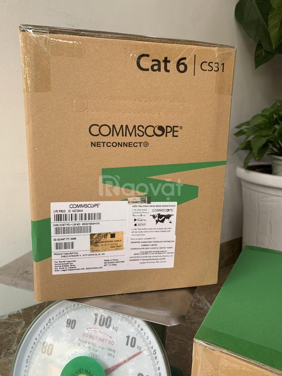 Cáp mạng Cat6 UTP Commscope PN 1427254-6 sẵn hàng cho dự án, thi công