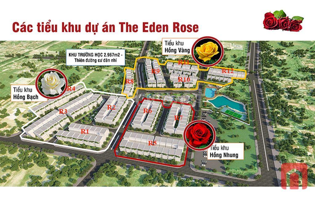Bán lô LK R3 DT 82.5m2 view vườn hoa, dự án Eden Rose
