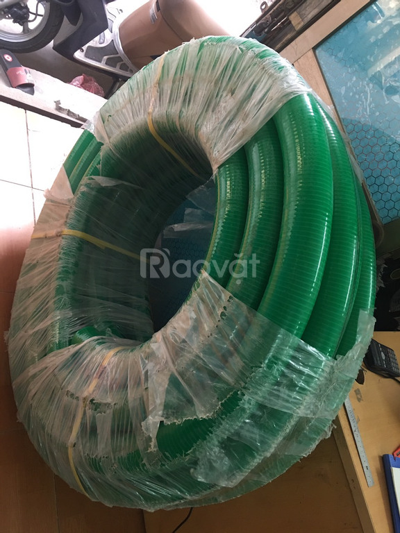 Ống nhựa lõi thép màu xanh hút nước, hút cát sỏi, hút chất thải