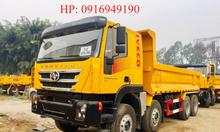 Giá xe ben HongYan Iveco 390HP 8x4 thùng đúc 2021