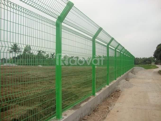 Hàng rào lưới thép mạ kẽm chính hãng, giá rẻ