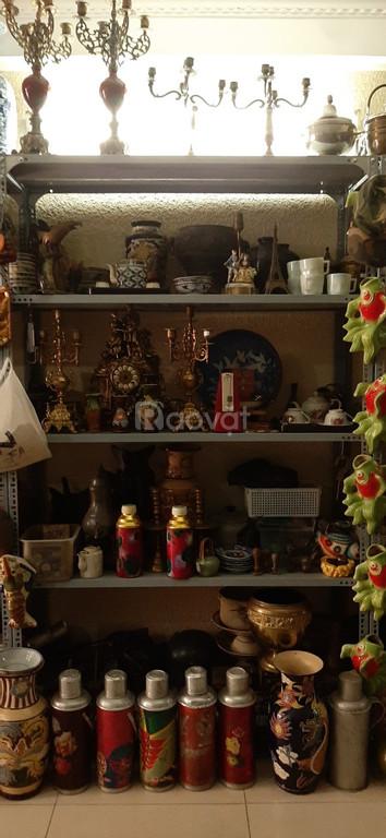Cân xưa, bình bông, bộ lư đồng, phích nước, đồ xưa cũ
