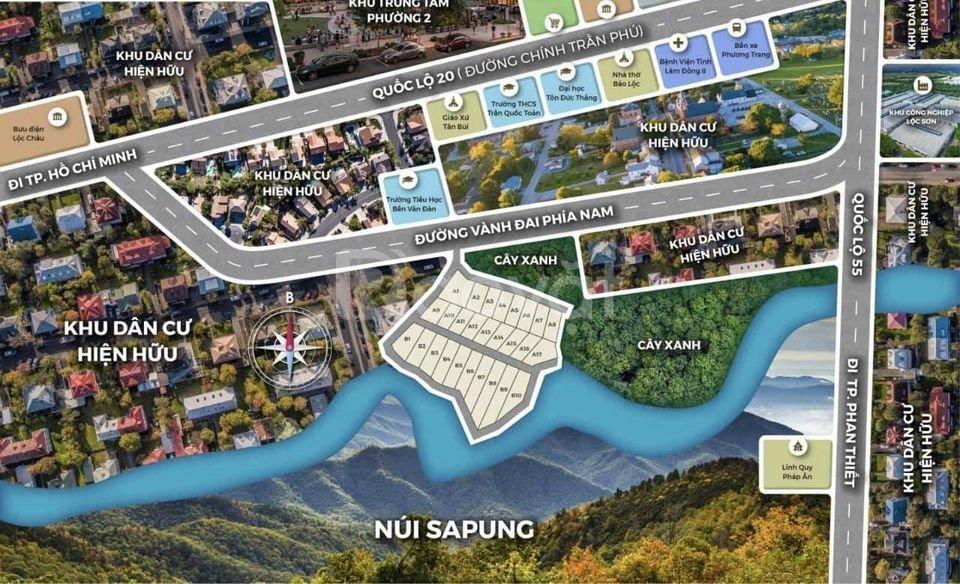 Đất nền biệt thự view nghỉ dưỡng TP. Bảo Lộc, Lâm Đồng giá rẻ