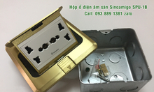 Ổ điện âm sàn, ổ cắm âm sàn gồm 2 ổ điện 3 chấu cắm đa năng Sinoamigo