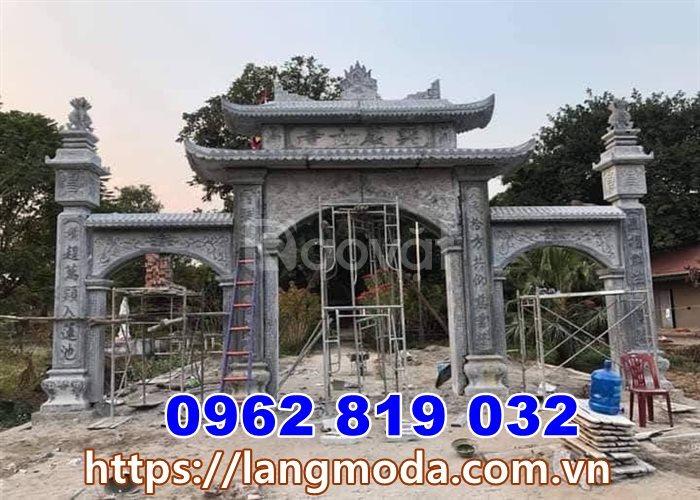 Làm cổng đình làng cổng nhà thờ họ bằng đá tại Bắc Ninh
