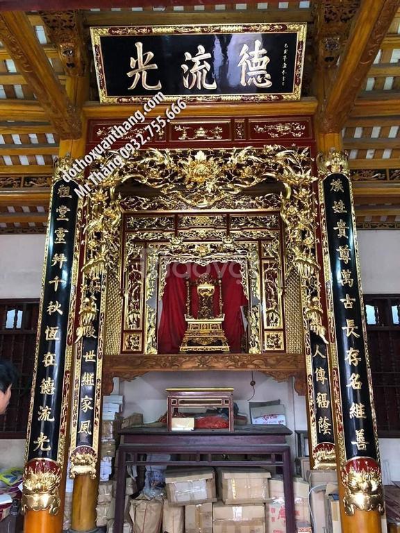 Mẫu hoành phi câu đối thờ bằng gỗ đẹp hiện nay
