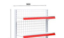 Kệ đơn lưng lưới C150 x D90 cm