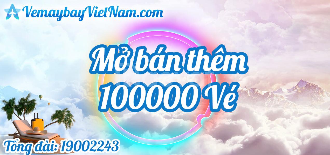 Mở bán thêm 100000 vé máy bay phục vụ lễ 30/4