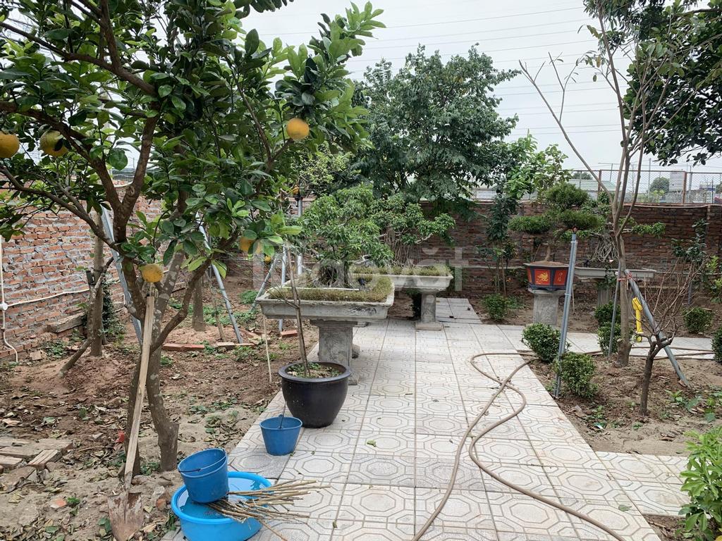 Bán nhà vườn Đông La sổ đỏ, mặt đường to ô tô đỗ cửa