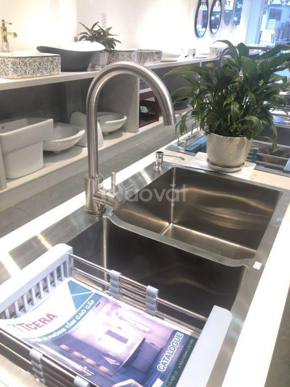 Vòi rửa chén nóng lạnh Inox 304 TTCERA CNL415