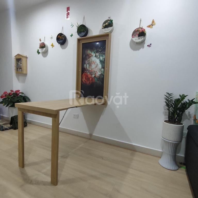 Bàn ăn gấp treo tường gỗ chống ẩm R60xD110cm H75cm