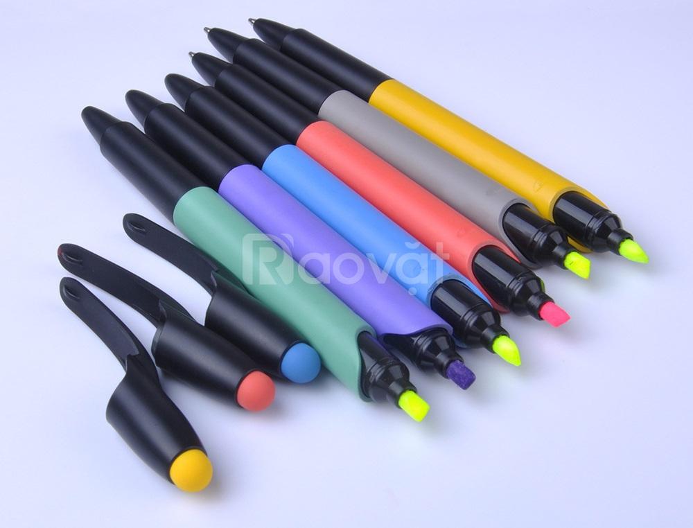 Bút bi tích hợp bút highlight dạ quang tiện lợi