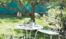 Bàn ghế sắt thiết kế cho phòng ăn, nhà hàng, sân vườn, quán cafe