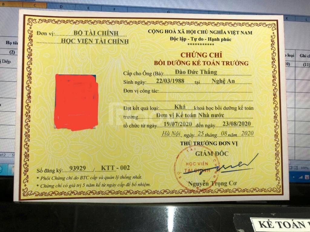 Đào tạo kế toán trưởng tại Hà Nội