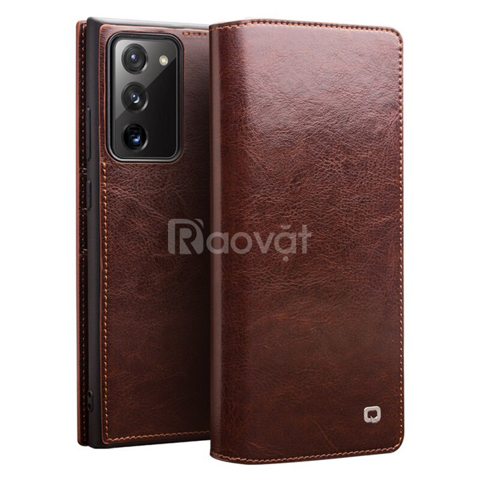 Bao da Note 20 Ultra / 5G Qialino Classic Leather Wallet da thật Hanma