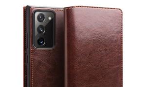 Bao da Note 20 Ultra / 5G Qialino Classic Leather Wallet da thật Hanma