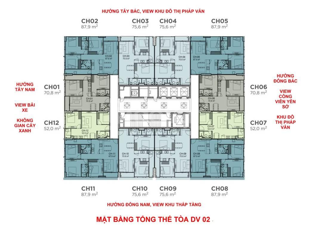 CC cần bán lại căn 1510, 76m2 tại dự án Rose Town 79 Ngọc Hồi