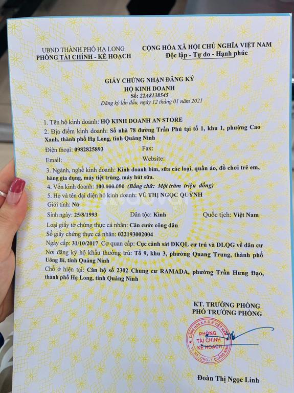 Cần sang nhượng siêu thị mini chuyên đồ mẹ và bé ở Hạ Long