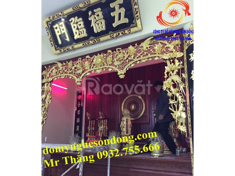 Đồ thờ cúng bằng gỗ sơn son tháp vàng được ưa chuộng