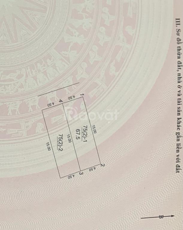 Đất ở SĐCC 67,5m2 Đông Ngàn, gần cầu Đông Trù