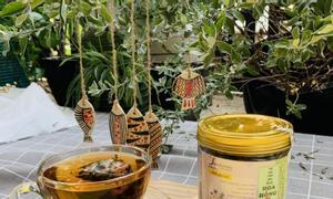 Trà hoa hồng Yamasantea trà hoa thảo mộc công nghệ Nhật Bản