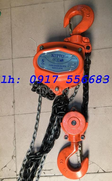 Pa lăng xích kéo tay Nitto 1 tấn, 2 tấn, 3 tấn, 5 tấn, 10 tấn, 20 tấn