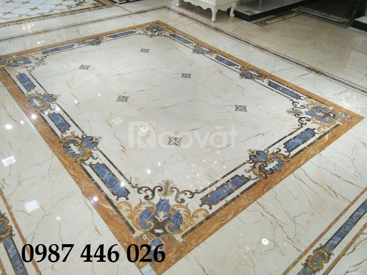 Gạch thảm trang trí ghép gạch 80x80cm