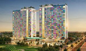 Bán căn hộ giá 800 triệu, view 2 sân golf triệu độ