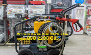 Máy rửa xe cao áp chạy dầu Lutian 18D35 - 10C giá rẻ