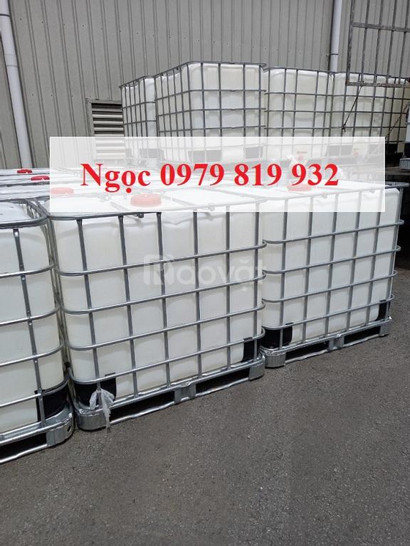 Thanh lý bồn nhựa 1000L hàng nhập khẩu cũ