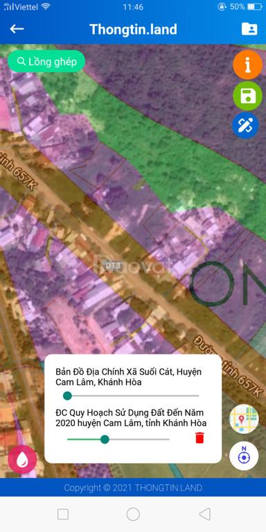 Bán đất mặt tiền đường Tỉnh Lộ 3 Khánh Hòa