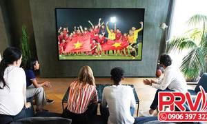 Cho thuê tivi 80 inch phát hình ảnh và video trong sự kiện