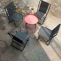 Bàn ghế xếp inox, sắt lưng tựa cao và thấp giá sỉ
