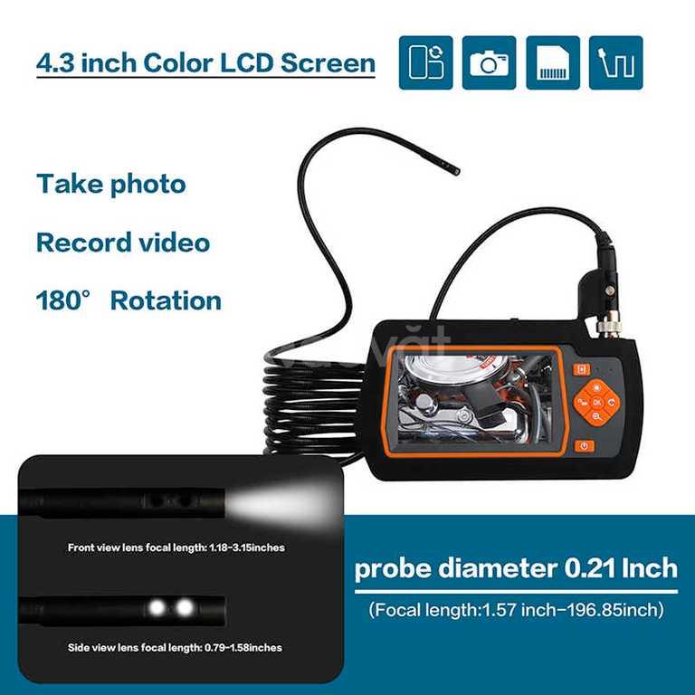 Máy nội soi công nghiệp KTS, màn hình 4.3 inch, full HD sắc màu