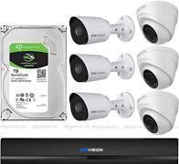 Trọn bộ 6 camera KBVISION thương hiệu Mỹ siêu nét