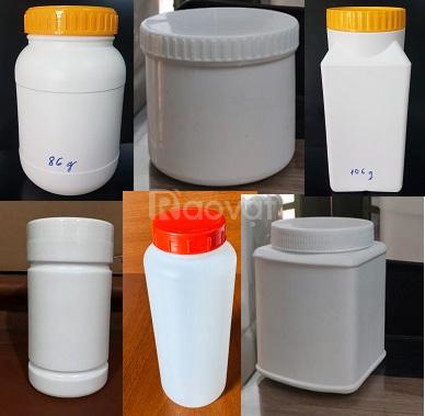 Bán hũ nhựa HDPE 1kg, hũ nhựa trắng đục 2kg