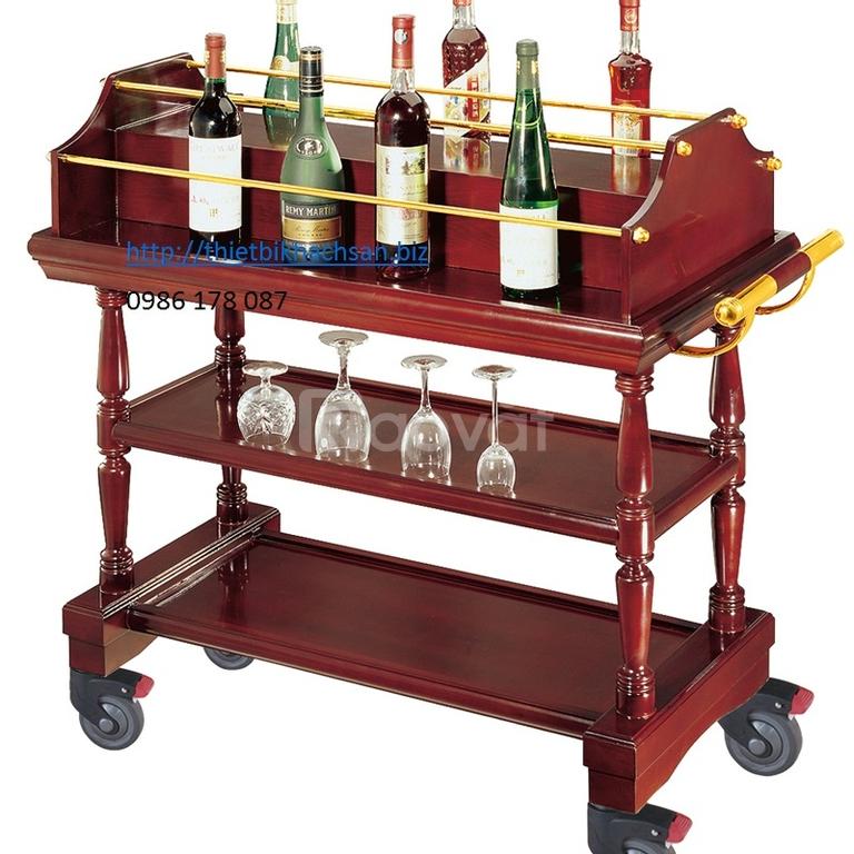 Xe đẩy phục vụ nhà hàng khách sạn, Liquor Trolley, C-11