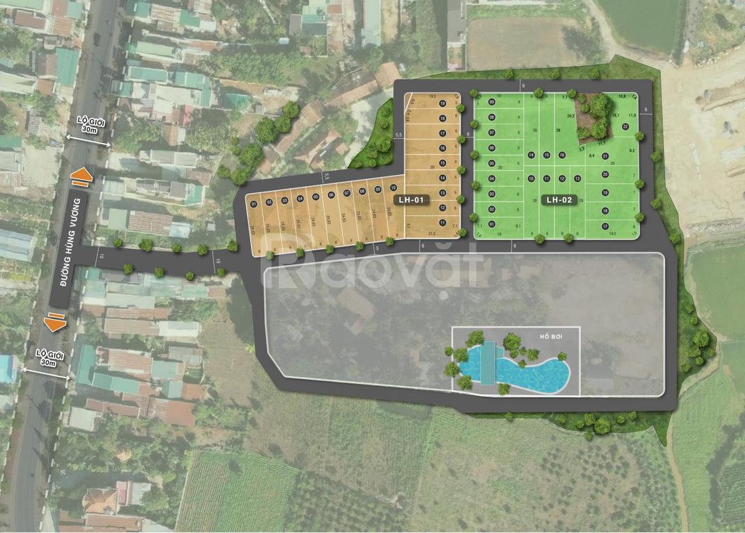 Đất nền sổ đỏ Lâm Hà, thị trấn Đinh Văn, chỉ 8,5tr/m2, sang tên ngay