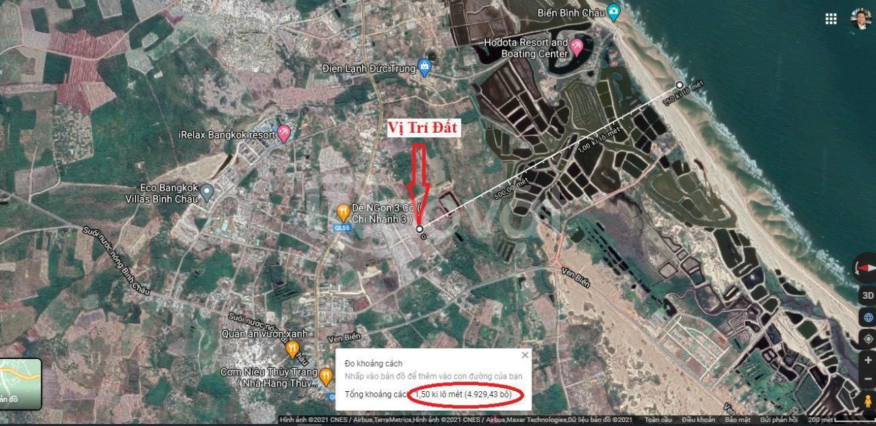 Bán đất nền 523m2 có 120m2 thổ cư, đường ven biển Bình Châu, Xuyên Mộc