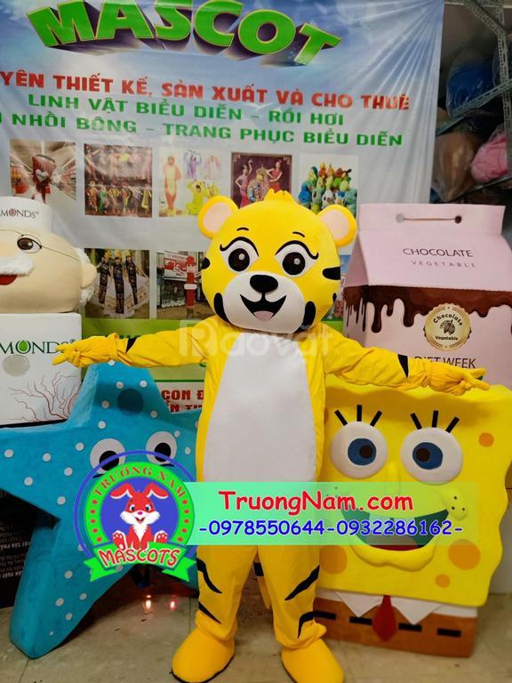 Mascot hổ, mascot động vật, linh vật biểu diễn